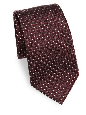 Emboidered Silk Tie