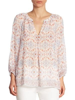 Gloria Printed Silk Blouse by Joie