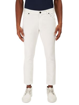 ENGINEERED FOR MOTION Clearing Slim-Fit Contrast Hem Jeans in White