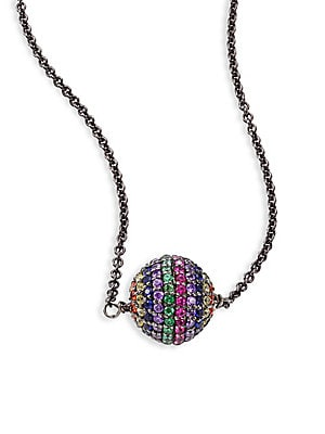 guess rainbow medium sproules pendant from jewellery jewellers pendants miami uk