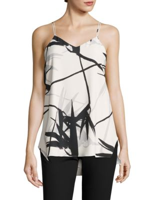 Double Strap Printed Cami by Halston Heritage