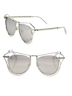 b92f4bcae6 Karen Walker. Marguerite 52MM Mirrored Cutout Cat Eye Sunglasses