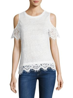 Monica Lace Cold Shoulder Top by Generation Love