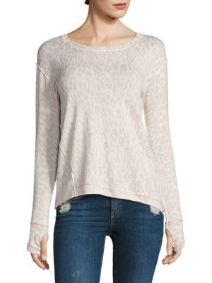 Alexa Silk-Blend Leopard Sweater by Generation Love