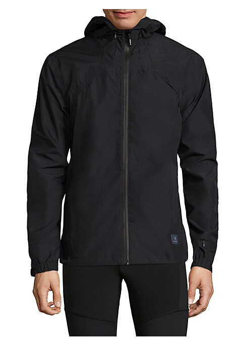 "Image of Lightweight jacket with multi-pocket design and attached hood. Attached hood with drawstring closure. Long sleeves. Elasticized cuffs. Exposed front zip. Chest zip pockets. Side slash pockets. Lined. About 28"" from shoulder to hem. Polyester. Machine wash"