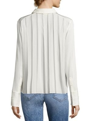 Perry Pleated Back Silk Blend Shirt by Elizabeth and James