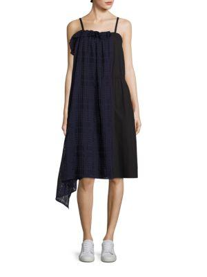Ema Plaid Overlay Dress by Public School