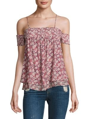 Pia Floral Cold Shoulder Top by Rebecca Minkoff