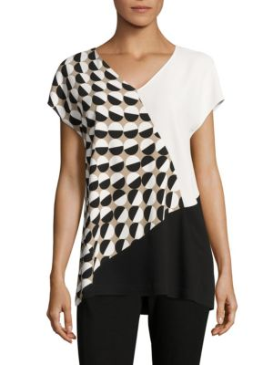 Charlize Colorblock Blouse by Lafayette 148 New York