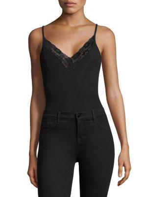 Jasmine Lace Trim Bodysuit by Airlie