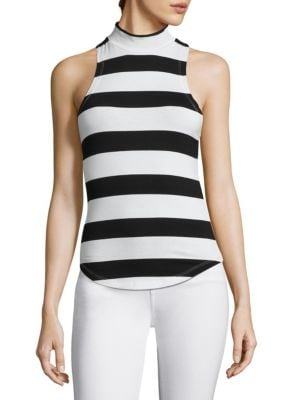 Mockneck Striped Tank Top by FRAME