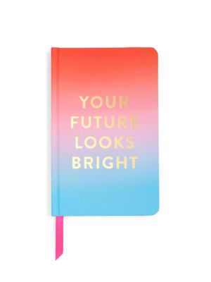"Image of Case-bound journal in bright ombre design. Hardcover.200 lined pages. Satin ribbon placeholder. Interior pocket. Centerfold says ""Are you having fun"".Sticker page.5""W x 8""H.Paper. Imported."