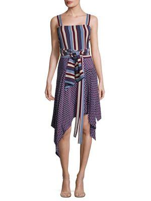 Sena Striped Silk Wrap Top by Alexis