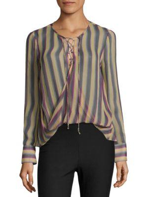 Drape Front Silk Blouse by Derek Lam 10 Crosby