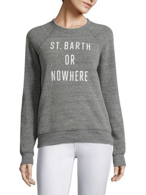 St Barth Or Nowhere Graphic Sweatshirt by Knowlita