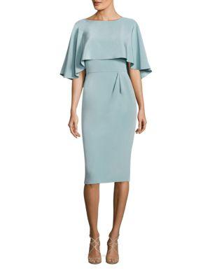 Cape Popover Silk Blend Dress