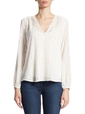 Bernetta B Embroidered Silk Top by Theory