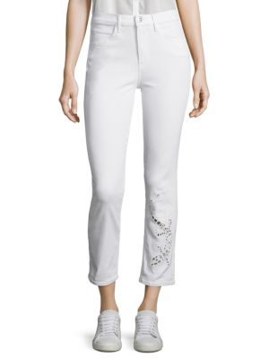 Image of Sally Salamander Cutout Cropped Straight-Leg Jeans