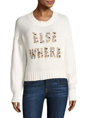 Elsewhere Embellished Knit Sweater by Wildfox