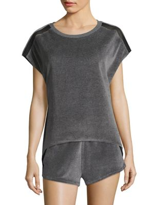 Terry Cap Sleeve Tee by Heroine Sport