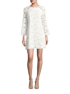 Long Sleeved Floral Lace Dress