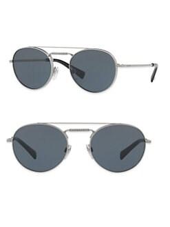 df38963f783 Valentino. Glamtech 51MM Round Aviator Sunglasses