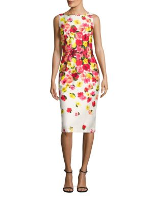 Floral Printed Dress by David Meister