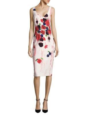 Floral-Print Sheath Dress by David Meister