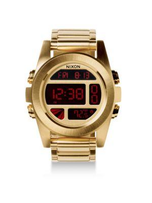 Nixon Bracelets Unit Stainless Steel Digital Bracelet Watch