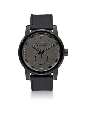 Nixon Watches Patriot Stainless Steel & Leather Strap Watch