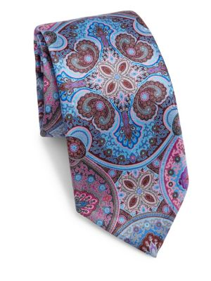 Printed Silk Tie by Ermenegildo Zegna