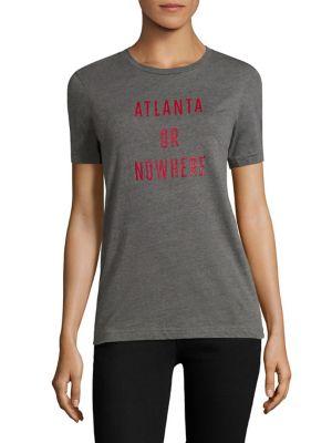 Atlanta Or Nowhere Cotton Graphic Tee by Knowlita