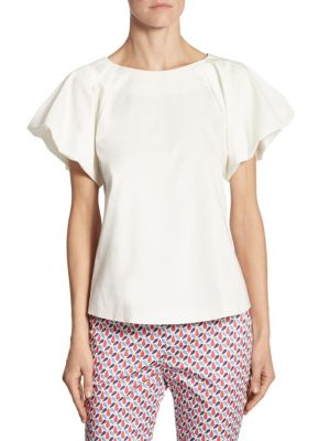 Scalloped Cotton Tee by Armani Collezioni