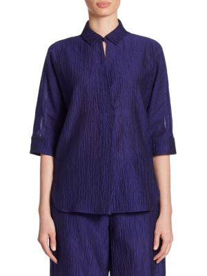 Crinkled Silk Shirt by Armani Collezioni