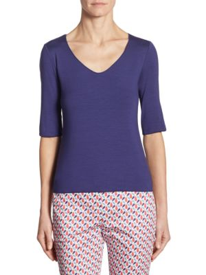 Elbow Sleeve Jersey Tee by Armani Collezioni