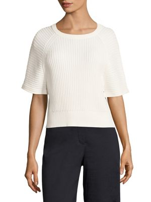 Mayalee Prosecco Rib-Knit Top by Theory
