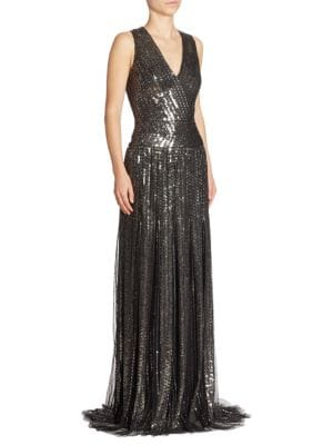 Sequin Beaded Gown
