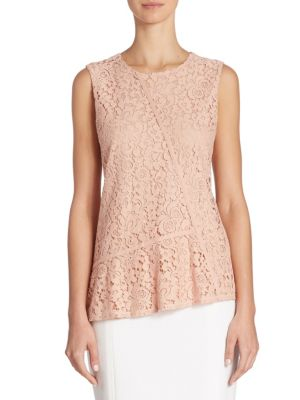 Etopaly Jersey & Lace Top by BOSS