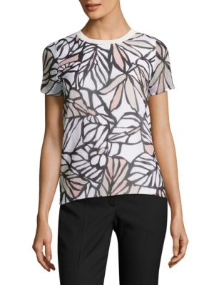 Eteva Palm-Print Top by BOSS