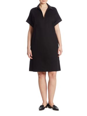 Seamed Punto Milano Shift Dress