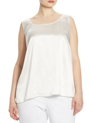 Cleo Silk Charmeuse Blouse by Lafayette 148 New York, Plus Size