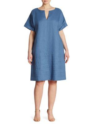 Fabian Embroidered Linen Dress