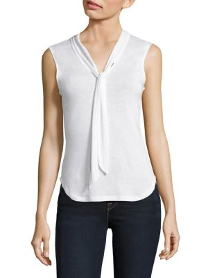 Tie Neck Top by FRAME