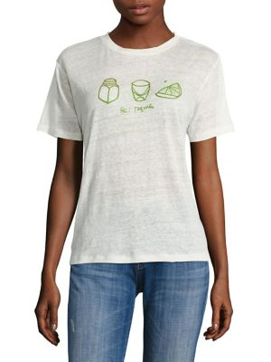 Embroidered Tequila Linen Tee by Banner Day