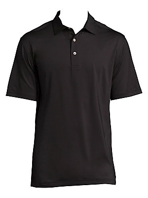 """Image of From the Crown Sport Collection Moisture-wicking polo protects from harmful UV rays Polo collar Front three-button placket Short sleeves 4-way stretch 50+ UV protection About 30"""" from shoulder to hem Polyester/spandex Machine wash Imported. Men Luxury Col"""