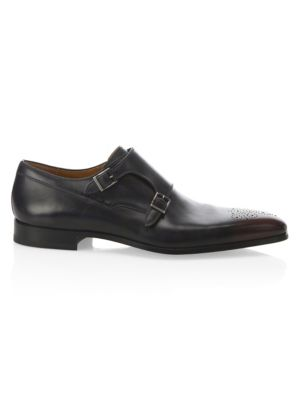 Collection By Magnanni Two Tone Double Monk Shoes by Saks Fifth Avenue