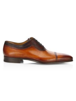 Saks Fifth Avenue COLLECTION Saffiano Lace-Up Brogues qe9pekH21A