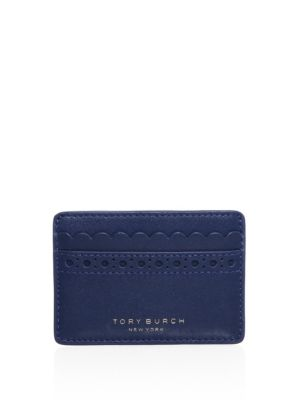 Tory Burch Block-T Brogue Slim Card Case (Multi Colors)