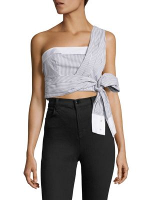 One-Shoulder Tie-Front Top by KENDALL + KYLIE