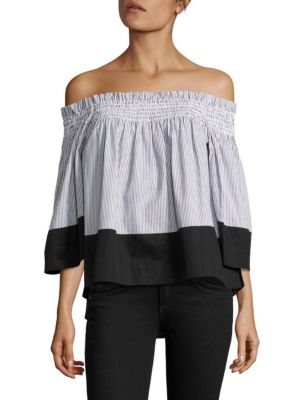 Smocked Off-The-Shoulder Top by KENDALL + KYLIE